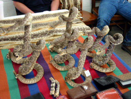 Stuffed snakes for sale.