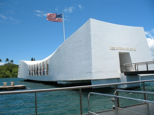 USS Arizona Memorial, Pearl Harbor, Hawaii.