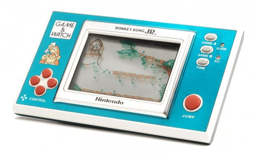 My first hand-held computer game ever - Donkey Kong Jr. I loved it so much!  (Image source: Evan-amos, Wikimeida Commons)