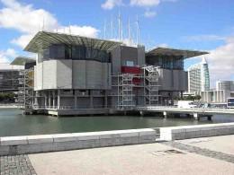 The rather futuristic exterior of the Oceanarium.