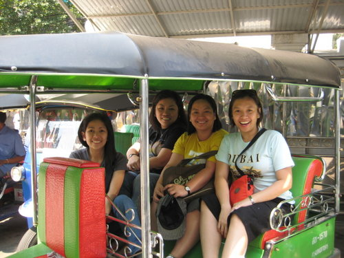 Riding the tuk-tuk makes my heart skip a beat!