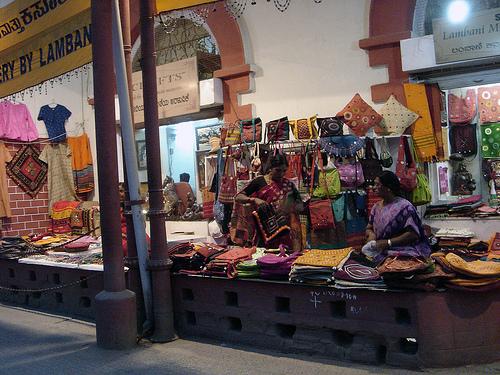 Handicrafts sale outside Cauvery Handicrafts