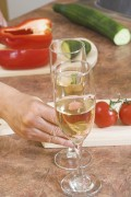 cook veggies with white wine
