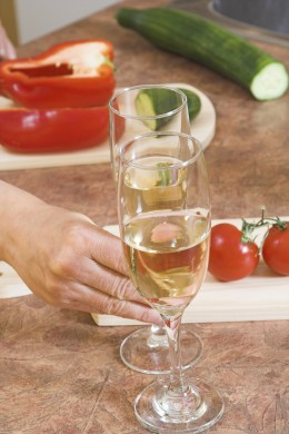 cook veggies with white wine