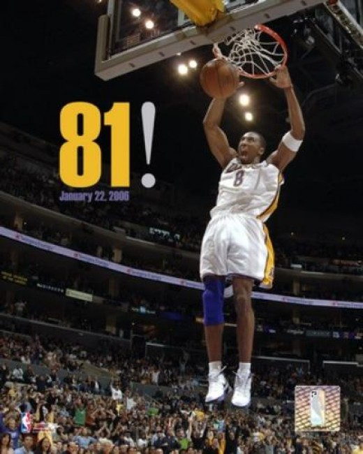 Kobe's 81 point explosion on Jan. 22, 2006 was the second highest in NBA history