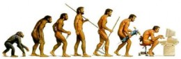 Whilst man 'evolved' in some folks eyes, and those same folk 'devolved' into....