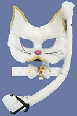 Glitter cat mask set. Available from AnniesCostumes.com