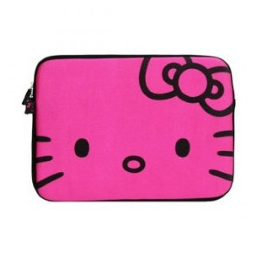 Hello Kitty Laptop Case for Girls-Hot Pink
