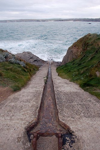 Newquay Old Lifeboat Launchway.