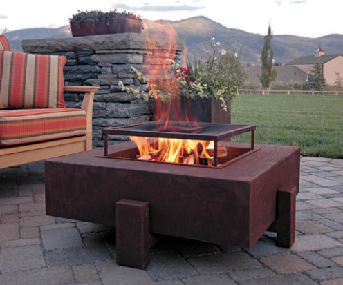 To avoid being overwhelmed with smoke, place fire pits down wind of the prevailing winds in your area.