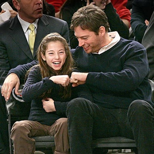 Harry Connick Jr. and his daughter From http://www.babble.com