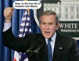 George Bush From www.100monkeystyping.com