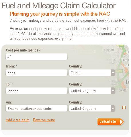 rac route fuel calculator