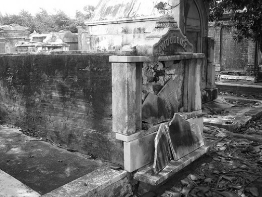 Tomb in Lafayette Cemetery, New Orleans