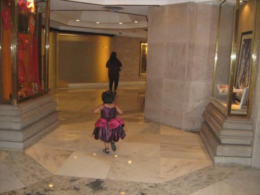Shronika in a lobby of ITC Maurya