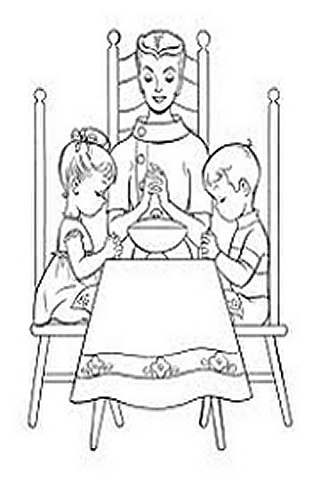 Thanksgiving Dinner Menu - Family Parenting - Thanksgiving Holiday Dinners Free-Kids Coloring Pages and Colouring Pictures to Print