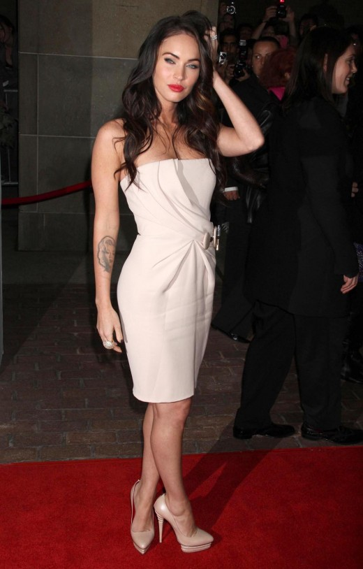 Megan Fox in a little white dress