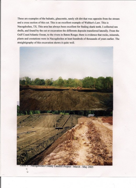 Photos from a landfill cell that I worked on in May of 2005