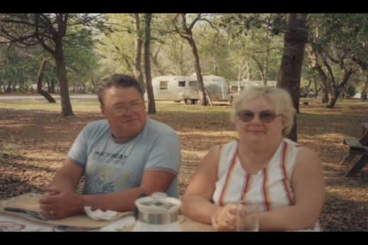 Mom and Hank enjoying a picnic