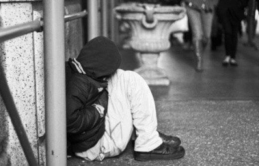 Typical scene of the homeless. Photo courtesy of Maggie Smith. @freedigitalphotos.net