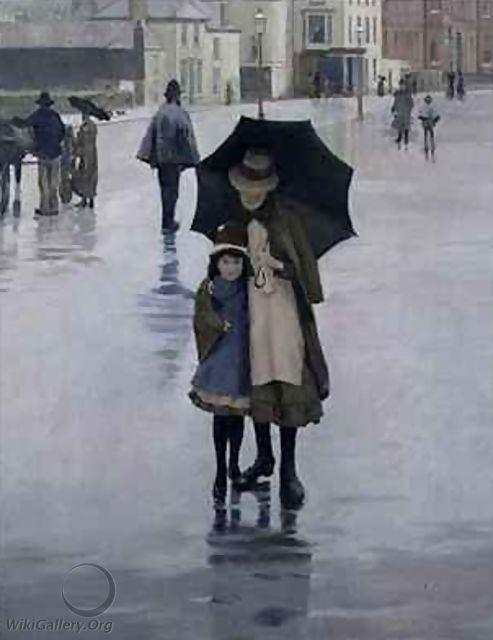 The Rain it Raineth, Norman Garstin, 1889.