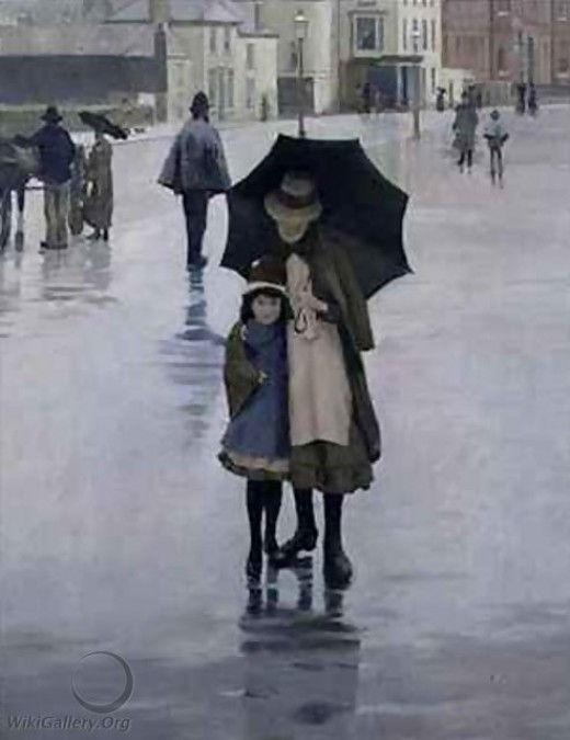 The Rain it Raineth, Norman Garstin, 1889.