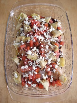 Mediterranean Baked Chicken Recipe With Artichokes and Feta Cheese