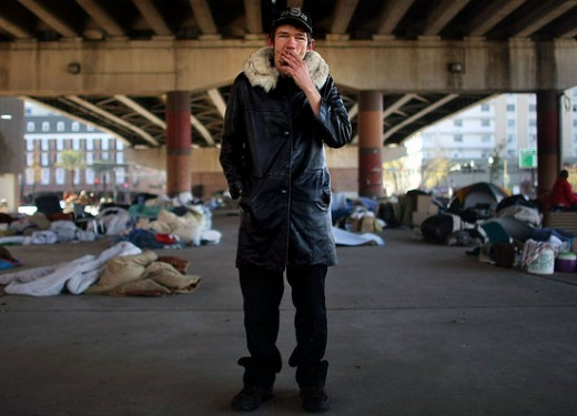 Homeless People Living Under Interstate 10 Bridge In New Orleans. Do you care?