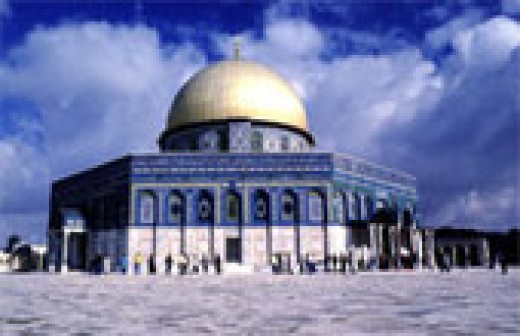 The Dome of the Rock in Jerusalem is the third most holy site in Islam. There is a huge contention as to who should have the former site of Herod's or Solomon's temple.