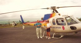 Stopped to refuel the helicopter in Hilo