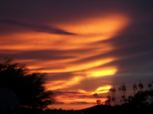 Arizona western sunset. Copyright 2010 AwBuchen.