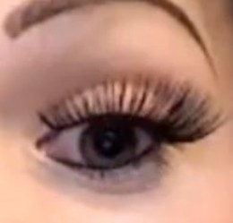 False eyelash application