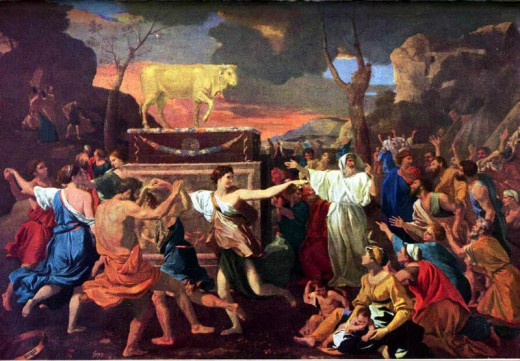 Worship of the Golden Calf, by Nicolas Poussin. From treehugger.com