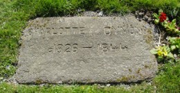 Charlotte Dymond's gravestone at St David's Church, Davidstowe, Cornwall