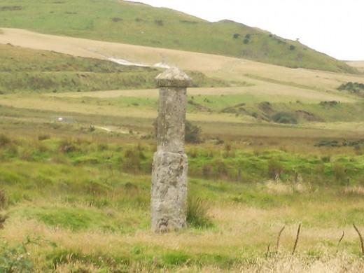 Memorial Stone on Rough Tor, near where Charlotte's body was found.