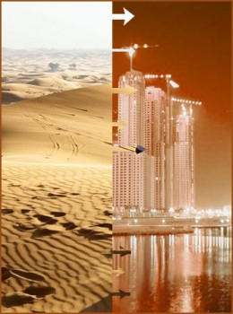 Which artist will not be inspired from this Dunes to Dingbats phenomenon of Dubai?