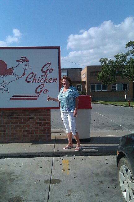 Go Chicken Go Sign