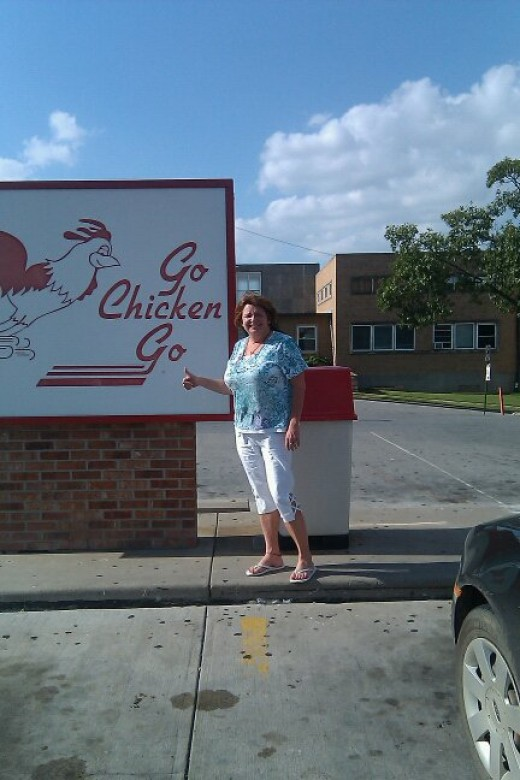 Go Chicken Go Sign