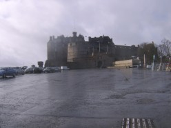 Edinburgh Castle, seen from Castlehill at the top of The Royal Mile