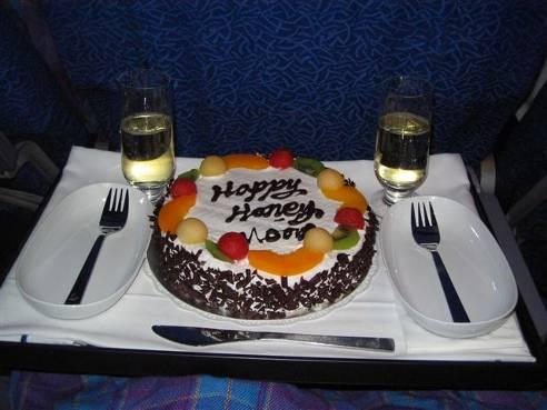 the honeymoon cake they gave us.