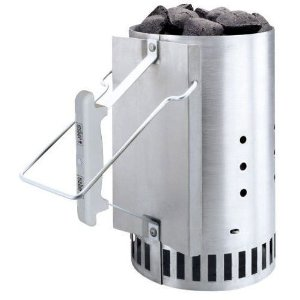 Love Grilling with hardwood charcoal, you absolutely need to  get a Chimney Charcoal Starter. Light your charcoal without using any chemical fire starter the safe and easy way.