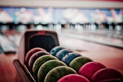 Ten Pin Bowling in Falmouth: Bowling Balls.