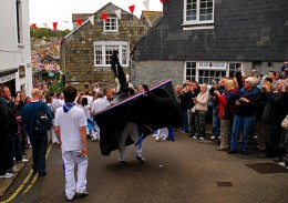 Padstow Obby Oss.    Photo by: Ennor