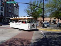 The Trolley bus from the Old Savannah Tours