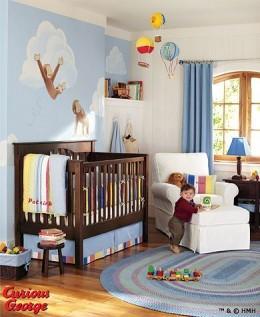 Nursery Wall On Curious George Baby Crib And Nursery Decor