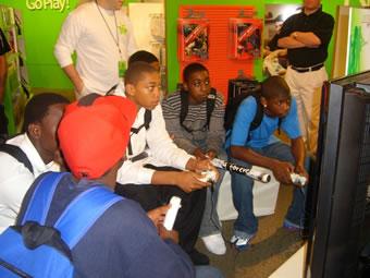 kids playing xbox 360