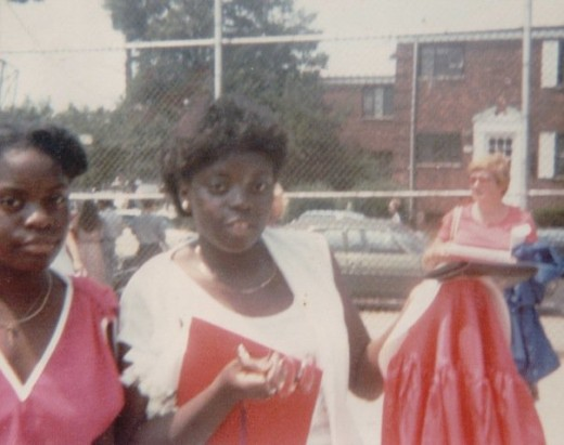 My sister and me almost 31 years ago at my High School Graduation.