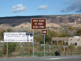 Scenic High Road to Taos, New Mexico