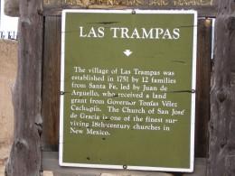Las Trampas New Mexico Historic Marker