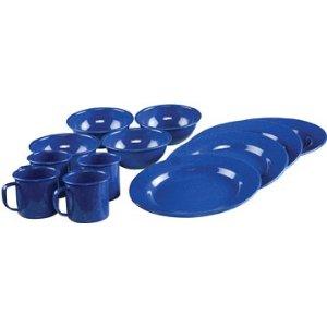 Coleman 12-Piece Enamelware Dining Set (Blue)